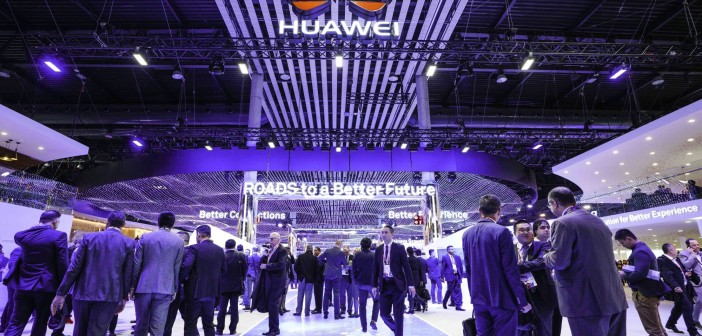 Huawei booth in MWC 2018