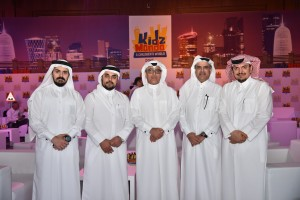 Mr. Ahmed Al Mulla , CEO of Mall of Qatar, (middle) attending KidzMondo ...